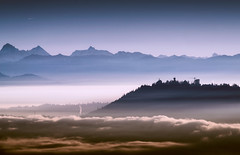 Dawn Cloud (Atmospherics) Tags: morningcloud vancouver vancouverfog morninglight tonal tones nikonf2820200mm atmospherics landscape mountainskyline dawnlight bclandscape