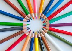 Color Wheel (nophoto4jojo) Tags: activeassignmentmonthly color explosion circle crayola pencils rainbow nikon d700 lightroom