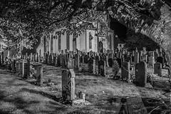Arrochar Parish Church (MC Snapper78) Tags: scotland nikond3300 church architecture building bw mono cemetery graveyard graves arrochar arrocharparishchurch marilynconnor night