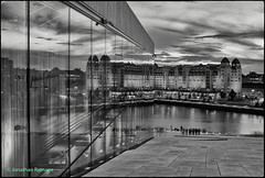 From the Opera House (geospace) Tags: oslo norway operahouse glass monochrome