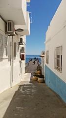 Blue & white Portugal (L C L) Tags: albufeira faro portugal algarve azul blue atlntico mar sea edificios building white blanco bicicleta loretocantero lcl