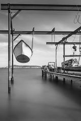 (Mat-S) Tags: thau tang ste pond sea boat blackandwhite noiretblanc longexposure nd1000 expositionlongue hitech