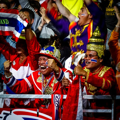The tiger roars! (MastaBaba) Tags: 20160821 brazil brasil rio riodejaneiro olympics olympicgames summerolympics sports thai thailand fans hat colors audience