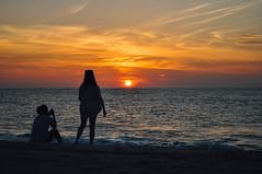 Beach Risen (_jonchinn) Tags: sunrise beach east coast new jersey nj long branch sky ocean water clouds early morning friends beautiful orange glow reflection peaking