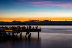 Sunset Ablaze (jetcitygrom) Tags: long exposure alki seattle anchor point park sunset sky elliott bay water olympic brothers mountains canon 6d