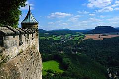 Watchtower (liebesknabe) Tags: knigstein fortress saxony germany tablehill saxonswitzerland schsische schweiz festungknigstein sonyalpha a5100 selp1650 landscape