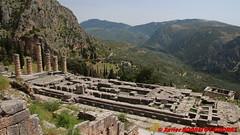 Archaeological site of Delphi - Temple of Apollo (soyouz) Tags: delfi delphi grc grce delphes ruines grec patrimoineunesco phocis montagne templeofapollo grcela