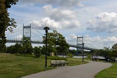 Triborough Bridge (Eddie C3) Tags: newyorkcity randallsisland randallsislandpark benches nycparks bicyclepaths triboroughbridge walking rfktriboroughbridge bridges robertfkennedybridge parks eastriver hellgatestrait