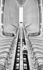 Going Up (Photos by Ish) Tags: elevator canon 5d3 symmetry atlanta marriott marquis georgia peachtree