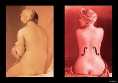Corrispondenze. Le sorelle Ingres-Man Ray (MTosches) Tags: ingres dadaismo accademismo viraggio 800 900 manray leviolondingres
