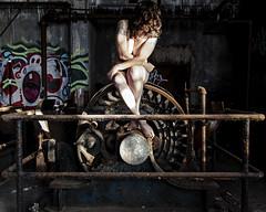 Generativity Versus Stagnation (sadandbeautiful (Sarah)) Tags: me woman female self selfportrait abandoned urbex machinery philadelphia pa