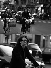 [La Mia Citt][Pedala] (Urca) Tags: milano italia 2016 bicicletta pedalare ciclista ritrattostradale portrait dittico bike bicycle nikondigitale mir biancoenero blackandwhite bn bw 88999