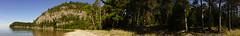 Beaver Rock Panoramic (Wawa Duane) Tags: wawa ontario canada foggy day fogwa lake may long weekend beer boobs love summer spring is here snow doesnt dark blossoms superior beaver rock macgregor cove melt fast enough green grass