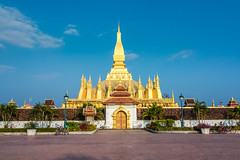 Pha That Luang, Great Stupa in Vientine, Laos (Travelista.sk) Tags: architecture asia asian buddha buddhism buddhist building capital cityscape gold golden great historical history indochina landmark laos luang monument national pha religion religious reliquary sacred southeast stupa symbol temple traditional travel vientiane wat