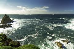 Longships Lighthouse, Lands End, Cornwall (Dixie Deane) Tags: longshipslighthouse landsend cornwall surf whitehorses sea cliffs rocks distagont2821ze canon5dmkiii gitzotripods seascape