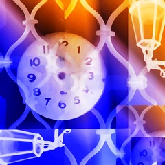 When The Time Stopped (Tango&Cash) Tags: blue orange colors collage watches time lantern clocks hypothetical ourtime ipad