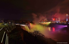 american falls in color (explored) (Rex Montalban) Tags: newyork color night lights niagarafalls americanfalls rexmontalbanphotography