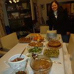 "Last night's potluck dinner <a style=""margin-left:10px; font-size:0.8em;"" href=""http://www.flickr.com/photos/59134591@N00/8279655221/"" target=""_blank"">@flickr</a>"