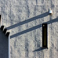 Long shadows again (tanakawho) Tags: shadow geometric window wall architecture exterior line squareformat tanakawho almostmonotone weekendshowcase