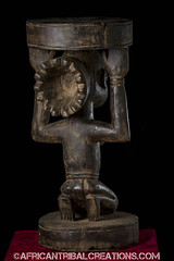 SongyeStool002a (African Tribal Creations) Tags: wood art mask antique african tribal carving figure congo stool drc creations songe handcarved democraticrepublicofcongo songye wasonga songhay basonge bassongo basongye bayembe