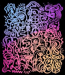 ALPHANATICK. (thomasheaphy) Tags: writing graffiti tag letters funk font sharpie alphabet symbols calligraphy hieroglyphs atoz handstyle lettersyoucantread