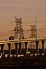 Dubai - Infrastructure (AdeyH) Tags: road travel bridge urban sun asian photography photo sand dubai power gulf traffic desert pentax uae arab pollution electricity arabian pylons ae