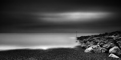 hythe (richard carter...) Tags: longexposure sea blackandwhite seascape beach monochrome kent rocks hythe etcetc 10stop canoneos5dmk2