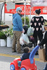 Jack Osbourne, Lisa Stelly and baby Pearl Osbourne spend the day the farmers' market Los Angeles, California