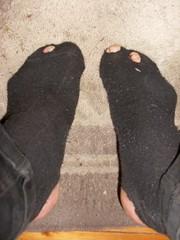 Please Santa (lasseman92) Tags: new broken stockings sport socks out nice sock toe hole bad dirty holes holy terrible worn torn heel cry trasig hobo hollow ragged tattered holey inherited nästan hål froozen coold tå holysock strumpa straff häl luffar strumphål utslitna