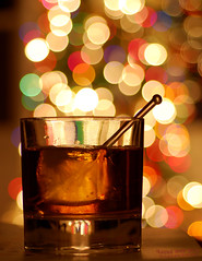 Liquor in the front, bokeh in the rear (lightwerkz) Tags: christmas holiday drink bokeh christmaslights alcohol booze holidaylights