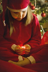 MERRY X'MAS & HAPPY NEW YEAR! (JONE VASAITIS) Tags: christmas light red portrait people girl night photography nikon bokeh 2012