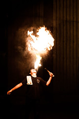 Halitosis of Fire (Bryan Nabong) Tags: sanfrancisco california northerncalifornia marina fire unitedstates firedancing northamerica geography palaceoffinearts firebreathing firejam