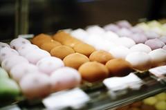 Manju (jjldickinson) Tags: food retail shopping japanese display pastry mochi nikkor nikonf manju torrance fujicolorsuperiaxtra400 nikkors50mmf14 nikonfphotomicftn roll398 tiffen52mmsky1a jsweets jaluxamerica tokyoginzarokumeikan