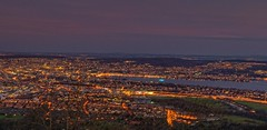 Happy New Year! (Daniel J. Mueller) Tags: city houses sunset lake night forest boot lights schweiz switzerland boat ship sonnenuntergang nacht zurich hills stadt zrich wald schiff hdr lichter huser zrichsee d4 hgel lakeofzurich kantonzrich 5xp cantonofzurich