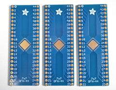 SMT Breakout PCB for 44-QFN or 44-TQFP - 3 Pack! (adafruit) Tags: 1162 breakoutboards