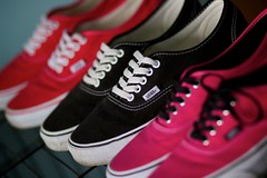 vans collection (thatgirlwiththekicks) Tags: pink red black shoes trainers skate runners kicks vans swag authentic