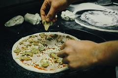 Pizza Making of. (Crusade.) Tags: food mushroom mediterranean bokeh cook sigma pizza slovenia piran merrill foveon x3 dp2 dp2m