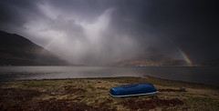 rainbow (Joe Dunckley) Tags: uk sea mountains weather landscape boats scotland highlands rainbows storms kintail ratagan lochduich fivesistersofkintail invershiel northwesthighlands