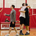 Volleyball tourney - competitors hug it out