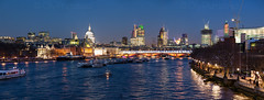 IMG_1770.jpg (Olly Plumstead) Tags: blue panorama london tower heron st thames skyline night river boat pauls southbank telephoto hour olly gherkin grater 42 oxo expanding chesse plumstead