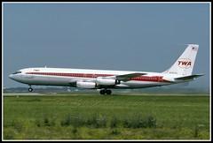 N763TW Trans World Airlines  - TWA (Bob Garrard) Tags: world air boeing trans 707 airlines ord twa kord berkin 707331 n763ab n763tw