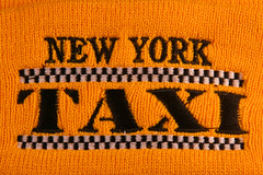 Day 342 - Woollen hat detail (Ben936) Tags: hat yellow woollyhat checkers woollen woolly chequers newyorktaxi knitware woollenhat