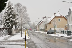 Veel lund! (anuwintschalek) Tags: street schnee winter white snow 50mm austria strasse january lumi weiss niedersterreich thaw sula talv wienerneustadt tnav tauwetter valge 2013 nikond90 lrts