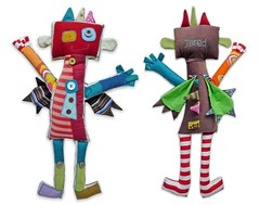 Jared the Robot (bigbrownmonster) Tags: monster daddy fun toy design robot diy child handmade creative plush parent gift kawaii handcrafted  ideas    preschooler              stayathome      bigbrownmonster wilkietan
