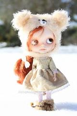 Pretty Doll on a snowy day