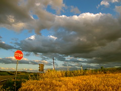 Sky & Landscape 24 (Constantin Barbu) Tags: sunset italy beautiful field clouds italia stop lanscape marche macerata