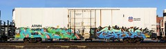 Mense/Terms (quiet-silence) Tags: railroad art train graffiti ant railcar unionpacific graff freight reefer terms armn fr8 cik fls mense hsq allnation armn110964
