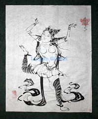 Sensuality series 2 (Linguaglobal) Tags: sensuality traditionaldress ricepaper inkart mongolianart mongolianwoman mongolianartist nurmaajavtuvdendorj