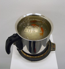 Cooking pot _ Goldfish, Mixed media _ 50 X 50 X 50 (cm)     20 X 20 X 20 (inch)
