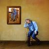 Misery Loves Company (YetAnotherLisa) Tags: blue yellow jeans mustard vangough hss teleidoscope totw